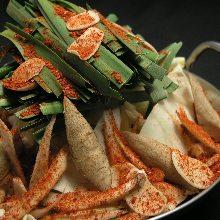 Offal hotpot (spicy miso flavor)