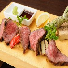 Grid-grilled Wagyu beef