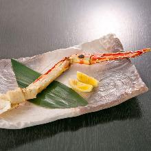 Boiled crab leg