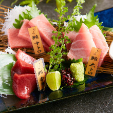 Assorted Pacific bluefin tuna, 3 kinds