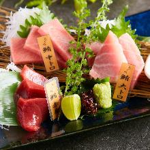 Assorted Pacific bluefin tuna, 3 kinds