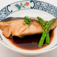 Simmered cod