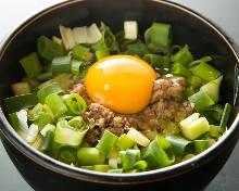 Spring onion okonomiyaki