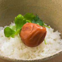 Ume chazuke(plum and rice with tea)
