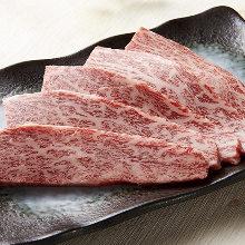 Wagyu beef rib-maki
