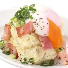 Creamy potato and egg salad