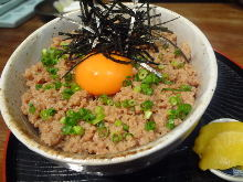 Soboro Gohan (seasoned ground meat rice)