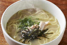 White chicken broth ramen