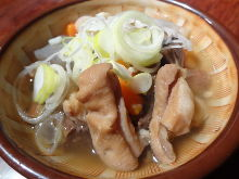 Simmered chicken entrails