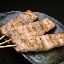 Pork rib skewer