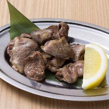 Grilled hatsu (hearts of chicken)