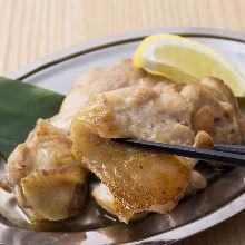 Grilled locally raised chicken thigh