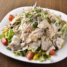 Pork shabu-shabu and sesame salad