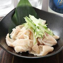 Chicken skin with ponzu