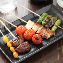 Grilled cherry tomato skewer