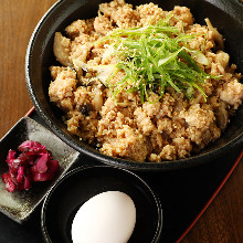 Tamagokake gohan with ground chicken