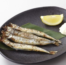 Shishamo smelt with roe