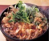 Chicken sukiyaki (cooked with various vegetables in sweet soy sauce)
