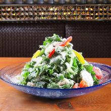Raw mushroom salad