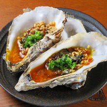 Oven-grilled oysters