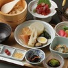 Chazuke dinner with marinated tuna and oden assortment