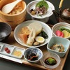 Dashi-chazuke dinner with minced horse mackerel and oden assortment