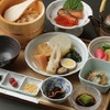 Dashi-chazuke dinner with salmon roe, and oden assortment