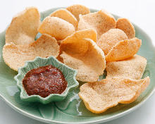 Japanese shrimp crackers