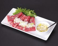 "Shiodare kalbi (short ribs seasoned with ""Shiodare"" sauce)"