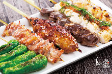 Assorted grilled skewers, 10 kinds