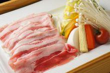 黒豚と季節野菜の蒸し御膳