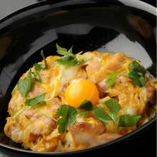 "Oyako" chicken and egg rice bowl