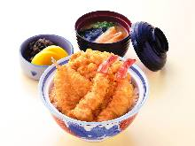 お昼天丼 (1F 11:30~17:00、2F 11:30~17:00 not available Sat,Sun,holidays)