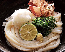 Udon with sudachi
