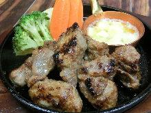 Tuna cheek garlic steak