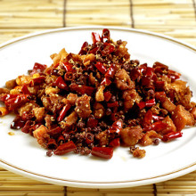 Stir-fried chicken with red pepper