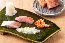 Seared seafood