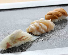Assorted nigiri sushi, 3 kinds