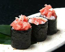 Negi toro (tuna paste with scallions)
