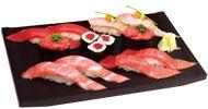 Tuna sushi platter