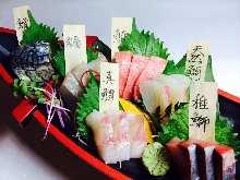 産直鮮魚5種盛り+中トロ
