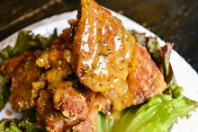 Fried thigh meat