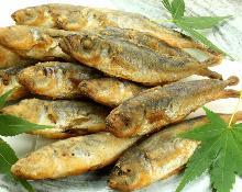 Fried small horse mackerel