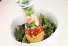 Shrimp and broccoli salad
