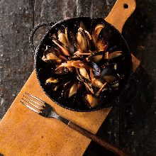 Mussles steamed with sake