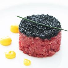 Wagyu beef tartar steak