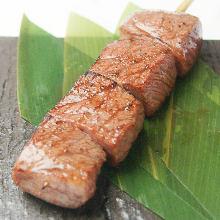Wagyu beef skewer