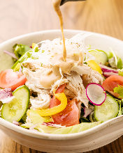 Steamed chicken salad