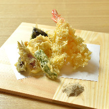 Seasonal vegetable tempura