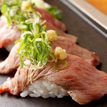Beef sirloin sushi